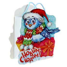 Пакет подарочный «Снегирь», 12 × 15 см Ош