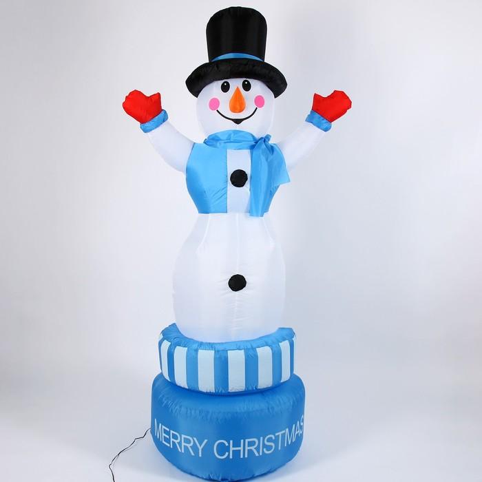 Надувная фигура Снеговик вертится вокруг себя, 210 см