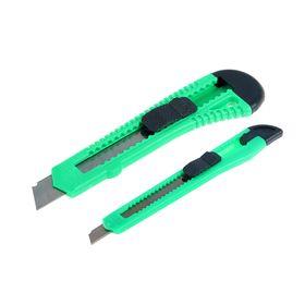 Набор ножей универсальных TUNDRA, пластиковый корпус, 9 мм и 18 мм, 2 шт.