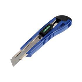 Нож универсальный TUNDRA, пластиковый корпус, металлическая направляющая, 18 мм