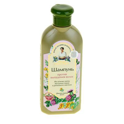 Шампунь для волос Рецепты бабушки Агафьи «Против выпадения», на основе мыльных трав и репейного настоя, 350 мл - Фото 1
