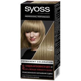 Крем-краска для волос Syoss Color, тон 7-6, русый