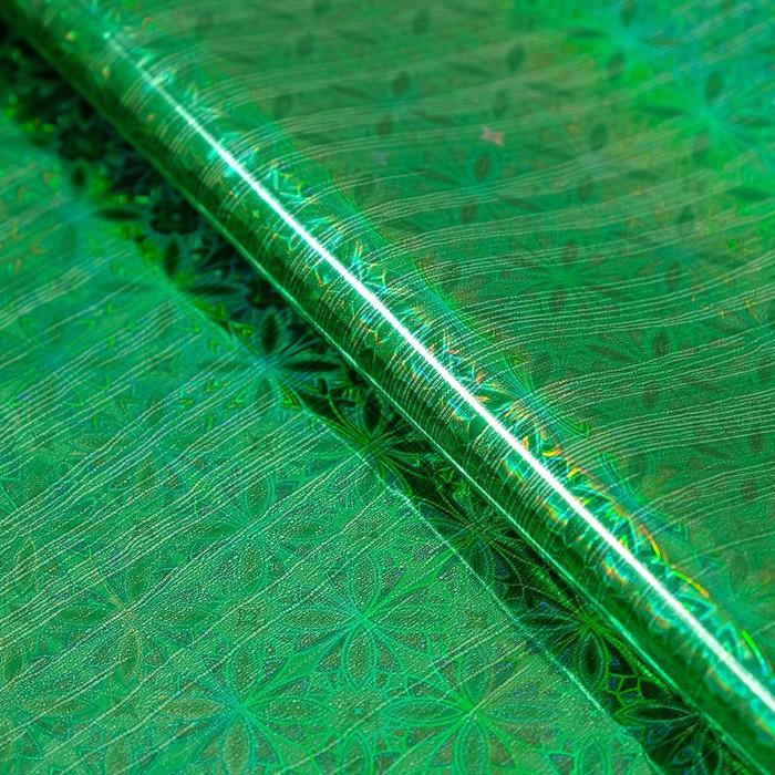 Пленка голография, зелёный, 70 х 100 см, рисунок МИКС