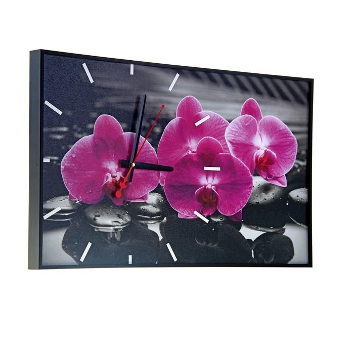 Часы настенные, серия Цветы, Магия Орхидей, 57х35х4 см, микс
