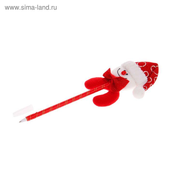 """Ручка шариковая """"Снеговик с бабочкой"""""""
