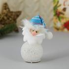 """Мягкая световая игрушка """"Дед Мороз в голубом колпаке"""" 11*5 см"""