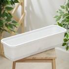 Балконный ящик с поддоном, 60 см, цвет мраморный - Фото 2