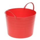 Корзина для белья круглая мягкая 17 л, 33×33×24,5 см, цвет красный