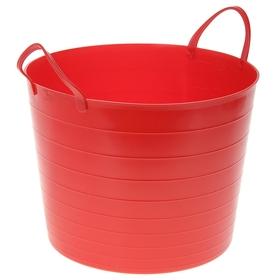Корзина для белья мягкая, 27 л, 37,5×37,5×30 см, цвет красный