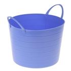 Корзина для белья круглая мягкая 17 л, 33×33×24,5 см, цвет сиреневый