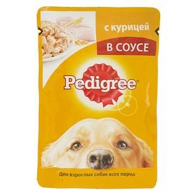 Влажный корм Pedigree для собак, курица в соусе, пауч, 100 г Ош