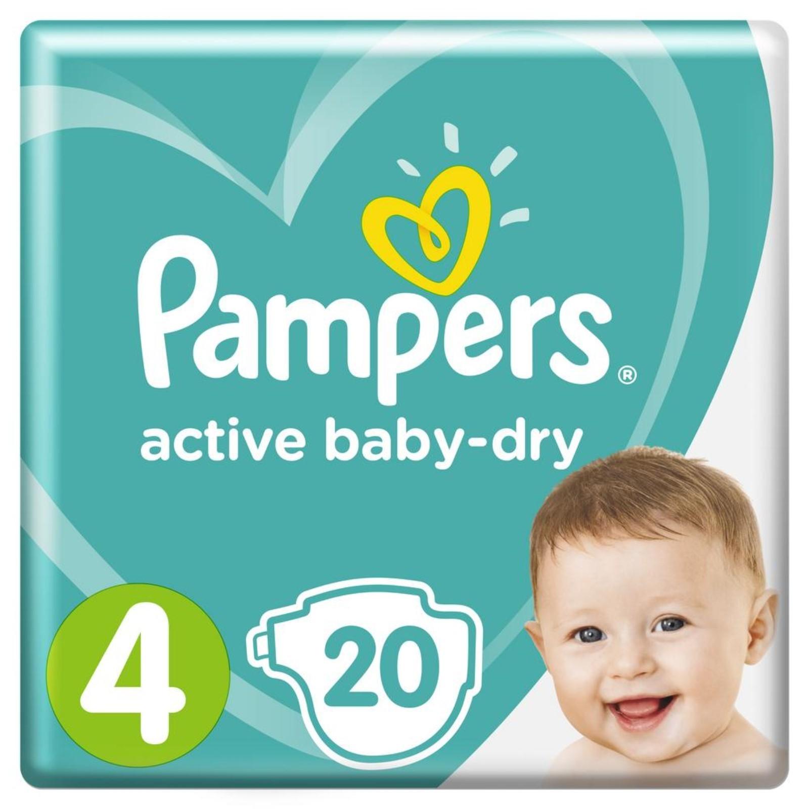 Купить подгузники pampers active baby dry размер 4