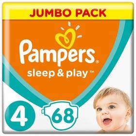 Подгузники Pampers Sleep & Play, размер 4, 68 шт.