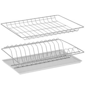 Комплект посудосушителей с поддоном для шкафа 40 см, 36,5×25,6 см, цвет хром Ош