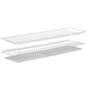 Комплект посудосушителей с поддоном для шкафа 90 см, 86,5×25,6 см, цвет белый Ош