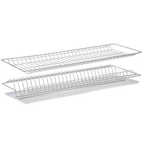 Комплект посудосушителей с поддоном для шкафа 80 см, 76,5×25,6 см, цвет хром Ош