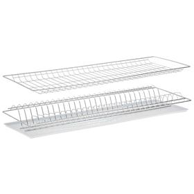 Комплект посудосушителей с поддоном для шкафа 80 см, 76,5×25,6 см, цинк Ош