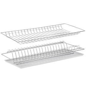 Комплект посудосушителей с поддоном для шкафа 60 см, 56,5×25,6 см, цинк Ош