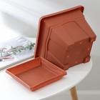 Горшок с поддоном «Квадро», 5,1 л, цвет терракотовый - Фото 3