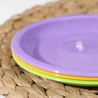 Тарелка для закусок, d=16 см, цвет МИКС - Фото 4