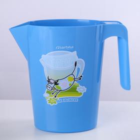 Кувшин-подставка под молочные пакеты 1 л, цвет МИКС