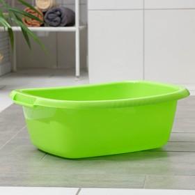 Таз овальный «Водолей», 17 л, цвет салатовый