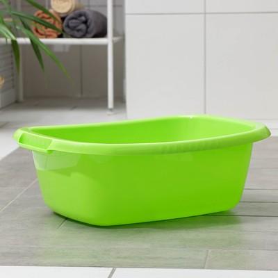 Таз овальный «Водолей», 17 л, цвет салатовый - Фото 1