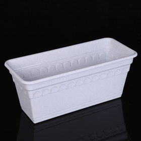 Ящик для растений балконный с поддоном 40 см 'Колывань', цвет мрамор Ош