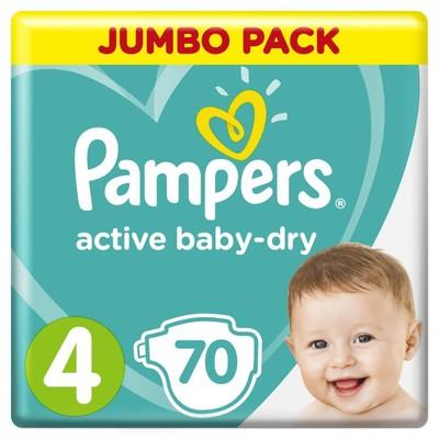 Подгузники «Pampers» Active Baby-dry Maxi (9-14 кг), 70 шт - Фото 1