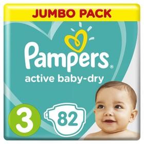 Подгузники «Pampers» Active Baby-dry Midi (6-10 кг), 82 шт
