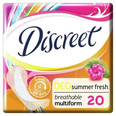 Ежедневные прокладки Discreet Deo Summer Fresh Multiform, 20 шт. - Фото 1