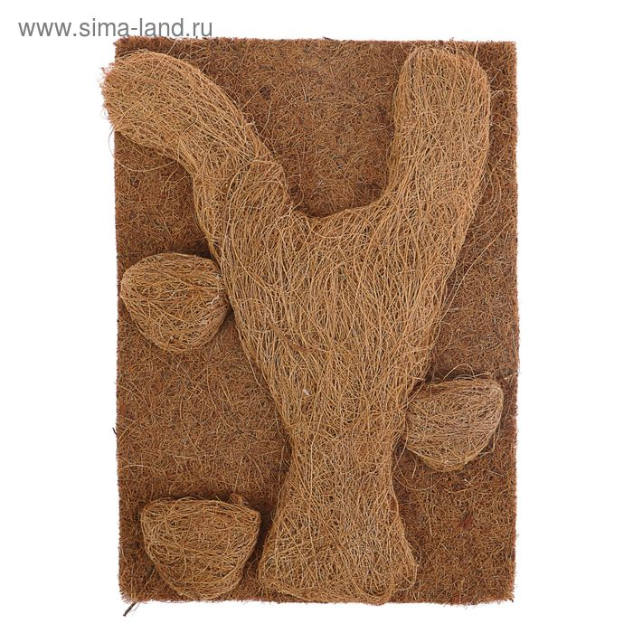 Полотно для террариума декоративное из кокосового волокна