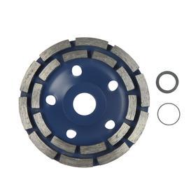 Чашка алмазная зачистная TUNDRA, двухрядная, 125 мм Ош
