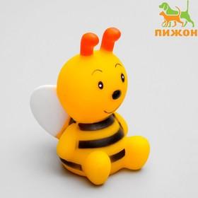 Игрушка пищащая Пчелка, 8,5 см Ош