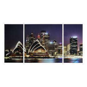 Картина модульная на стекле 'Сидней'  2-25*50см, 1-50*50см  100*50см Ош