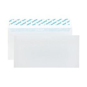 Конверт почтовый E65 110х220 мм, чистый, без окна, силиконовая лента, внутренняя запечатка, 80 г/м², в упаковке 100 шт. Ош