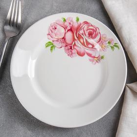 Тарелка мелкая «Розовые розы», d=17,5 см