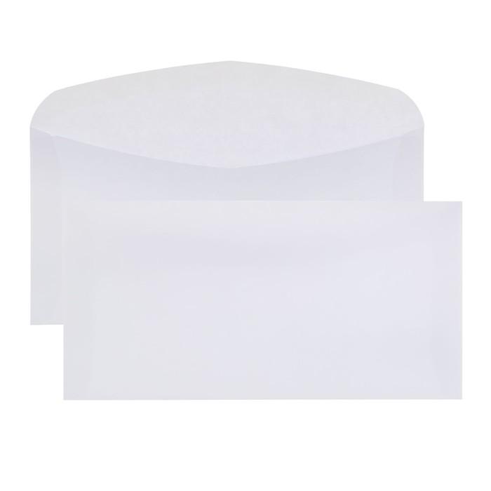 Конверт почтовый E65 110х220 мм, чистый, без окна, клей, без внутренней запечатки, 80 г/м², в упаковке 100 шт.