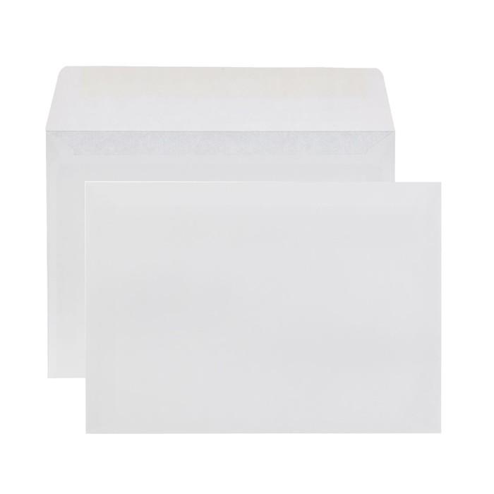 Конверт почтовый С6 114х162 мм, чистый, без окна, клей, внутренняя запечатка, 80 г/м², в упаковке 100 шт.