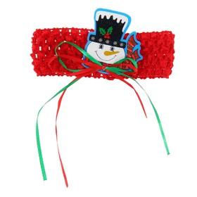 Карнавальная повязка-резинка «Снеговик» Ош