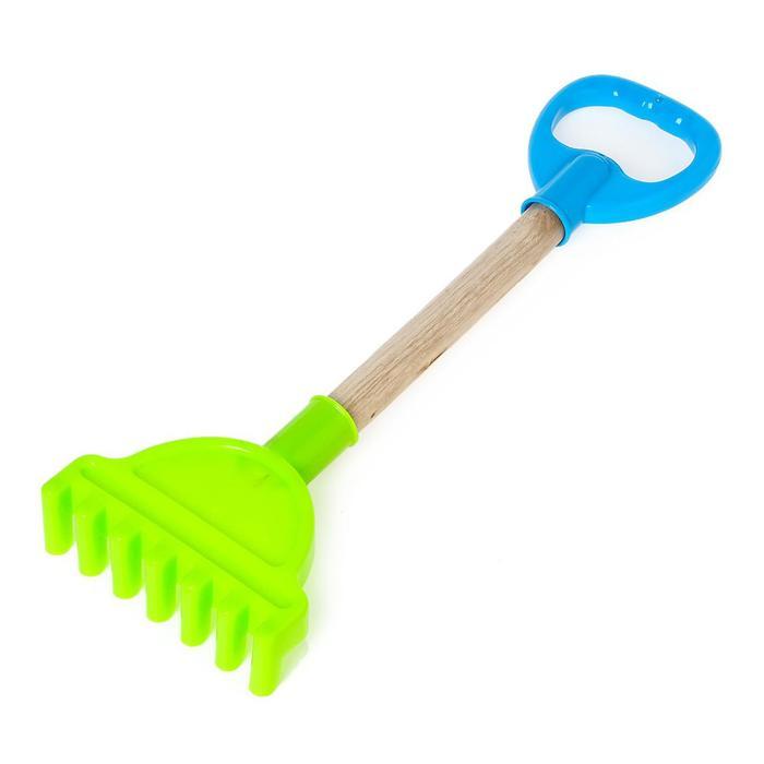 Игрушка для песочницы «Садовый инструмент», с деревянной ручкой, 36 см, для детей, МИКС