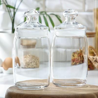 Набор банок для сыпучих продуктов Cesni, 1,1 л, 2 шт