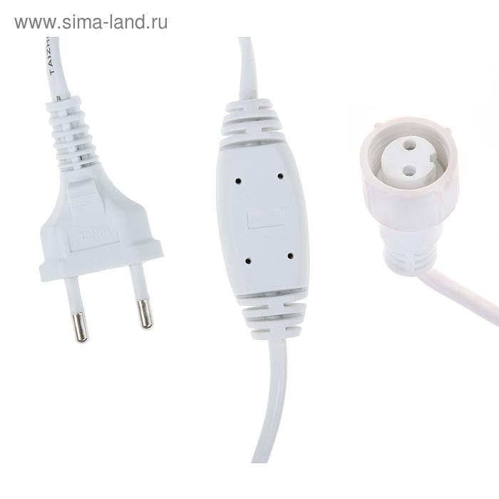 "Шнур питания для гирлянд ""Занавес"" до 5000 LED, 220V, Н.Б. 2W, для мульти, фикс., мерцание"