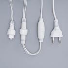 """Гирлянда """"Нить"""" 10 м , IP44, УМС, белая нить, 100 LED, свечение синее, 220 В - Фото 4"""