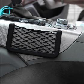 Карман-сетка под телефон TORSO, на клейкой ленте, 14,5 х 8 см, чёрный Ош