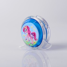 Йо-Йо «Пони», шарики внутри, d=4,7 см, цвета МИКС Ош