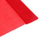 Бумага крепированная 50 х 200 см, плотность - 32 г/м, в рулоне, красная (80-01)