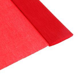 Бумага крепированная 50 х 200 см, плотность - 32 г/м, в рулоне, красная (80-01) Ош
