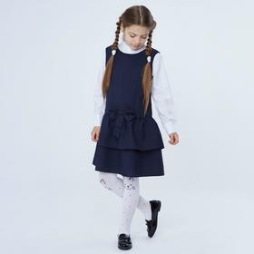 Сарафан для девочки, цвет синий, рост 128 Ош