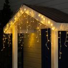"""Гирлянда """"Бахрома"""" 3 х 0.6 м , IP44, УМС, белая нить, 160 LED, свечение тёплое белое, 220 В - Фото 1"""